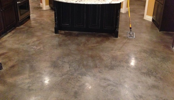 Stained Concrete Or Epoxy Garage Flooring Options